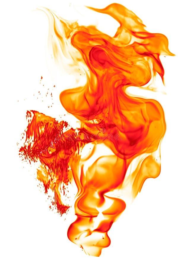 不可思议的火燃烧-燃烧的红橙色热的火焰 图库摄影