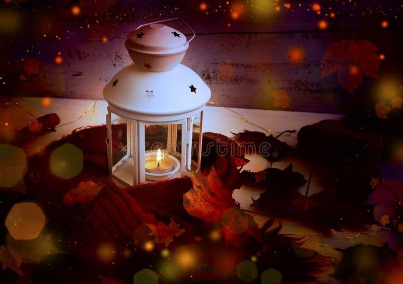不可思议的秋天灯笼 免版税库存图片