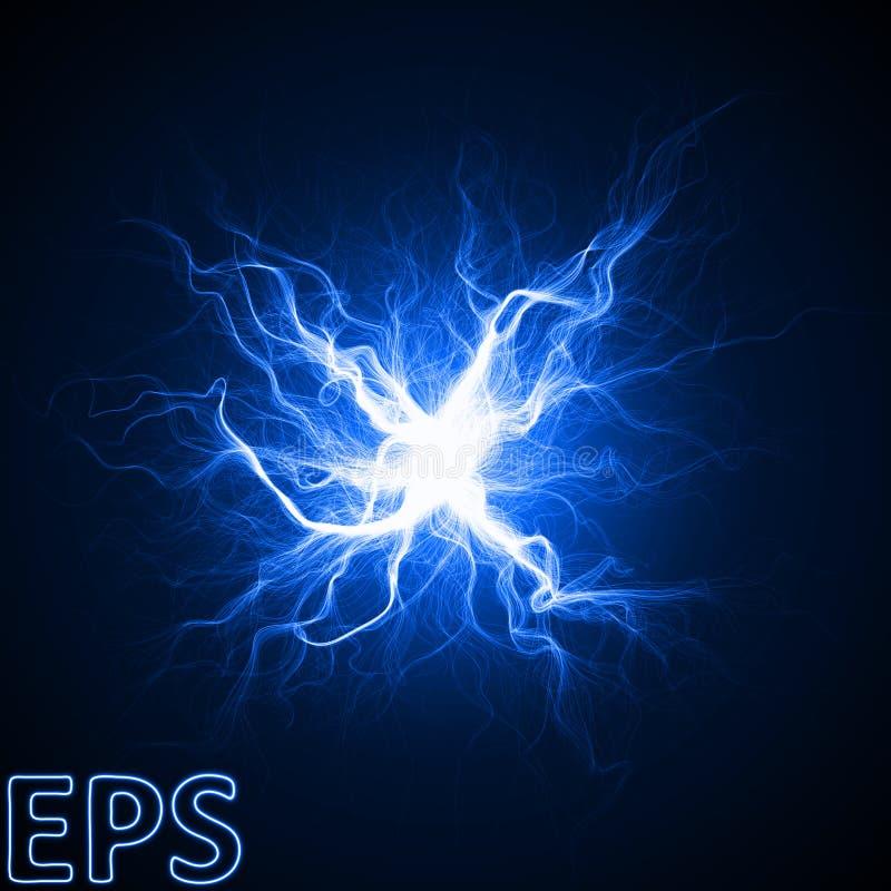 不可思议的能量爆炸的片刻 从中心的能量静脉 向量例证