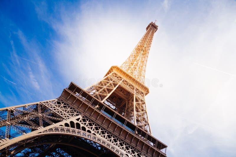 不可思议的艾菲尔铁塔 库存照片