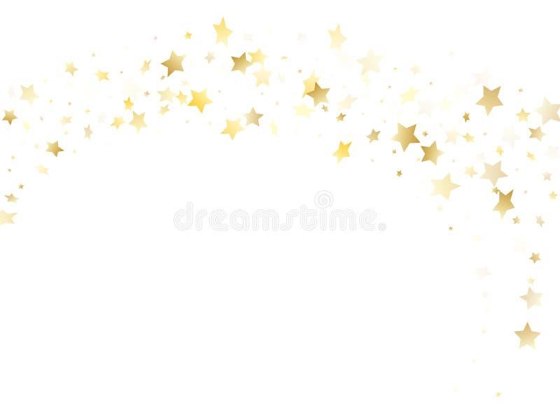 不可思议的金闪闪发光纹理传染媒介星背景 皇族释放例证