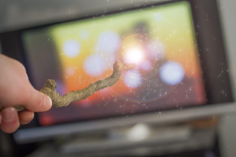 不可思议的鞭子电视 免版税库存图片