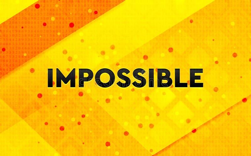 不可能的抽象数字横幅黄色背景 皇族释放例证