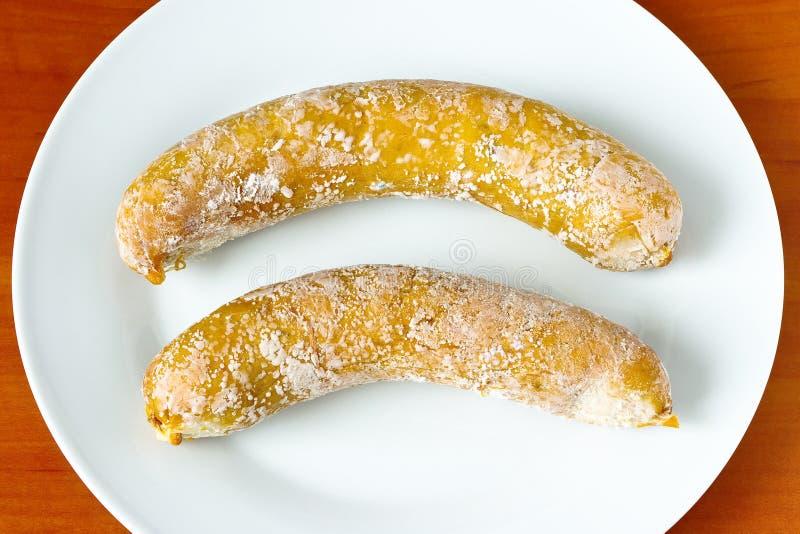 不可食的香肠 免版税库存图片