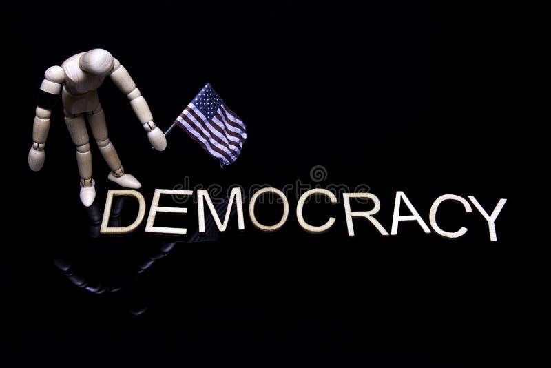 不合格的民主 免版税库存照片