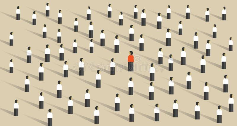 从不同人群的领导引人注意 库存例证