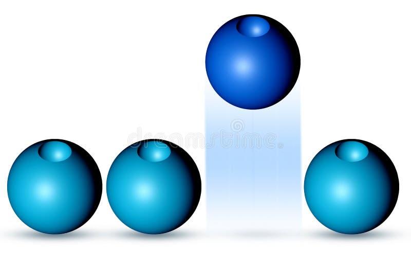 不同球的蓝色 库存例证