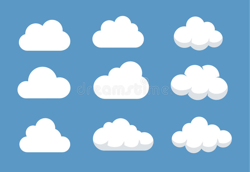 不同的云彩形状 向量例证