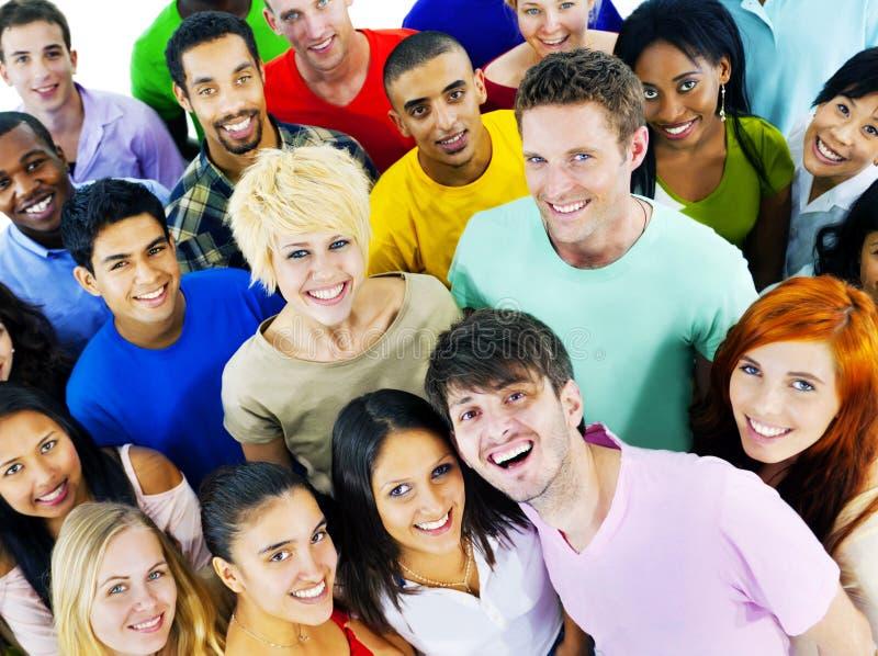 不同的人朋友统一性队公共概念 库存图片