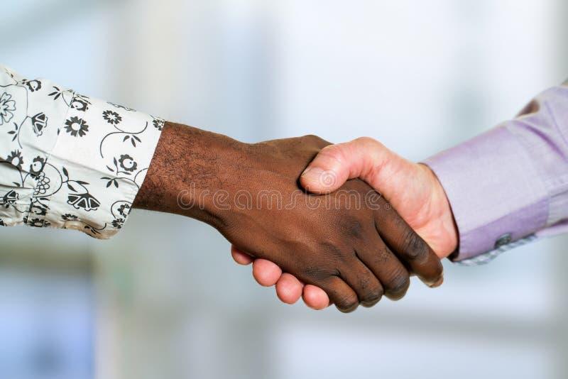 不同的企业握手细节  免版税库存照片
