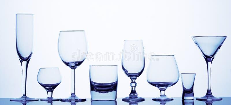 不同的八块玻璃 免版税库存照片