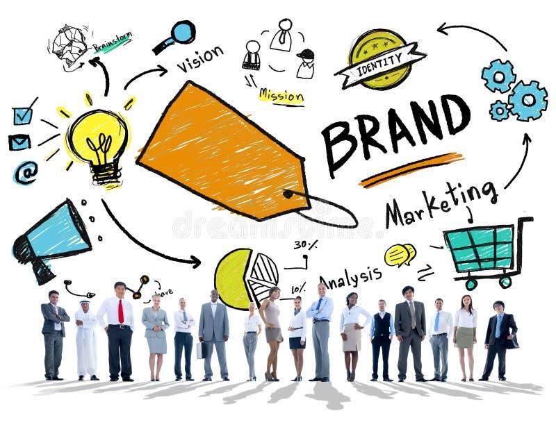 不同的公司业务人民被隔绝的品牌概念 库存照片