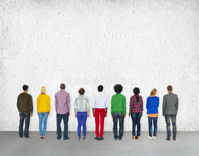 不同的变化种族种族团结变异概念 库存图片