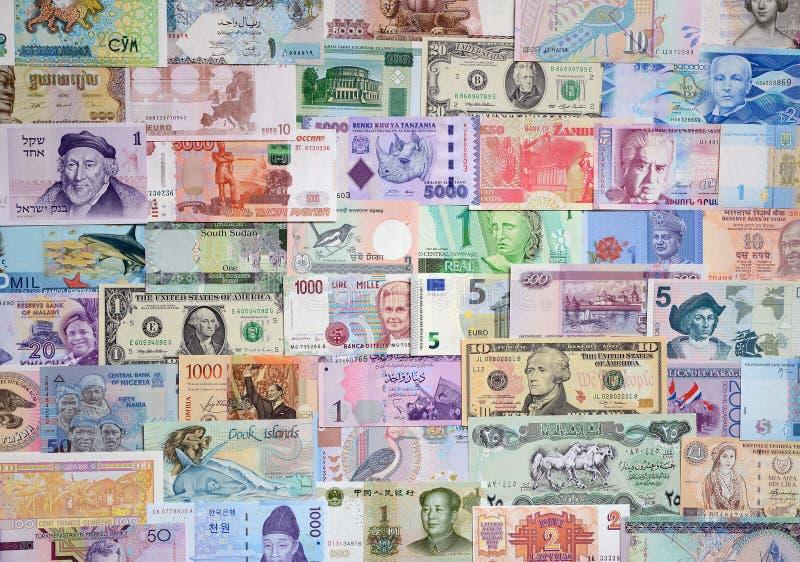 不同的国家(地区)的货币 库存图片