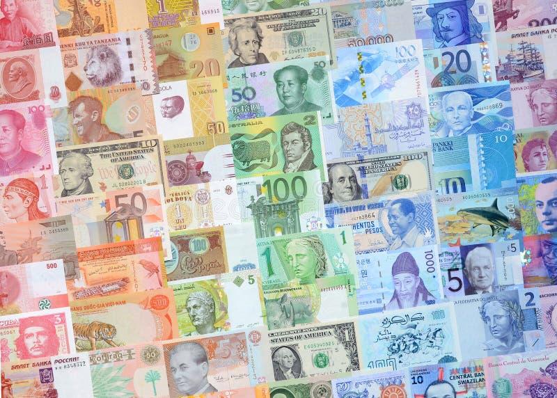 不同的国家(地区)的货币 库存照片