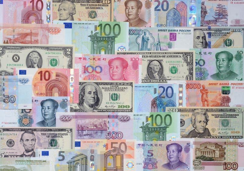 不同的国家(地区)的货币 免版税库存图片