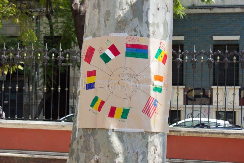 不同的国籍的人们从世界的 向量例证