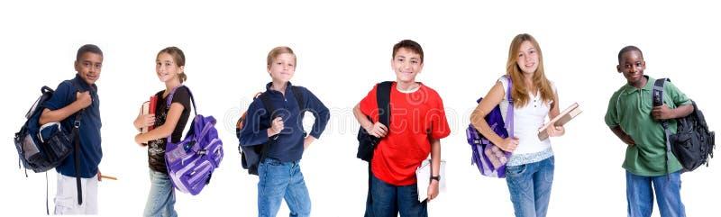 不同的学员 免版税库存照片
