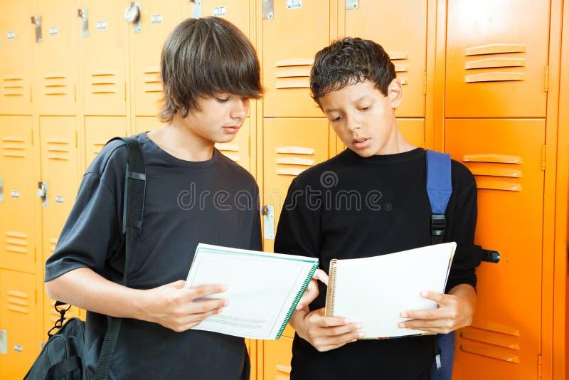 不同的学校学员 库存照片