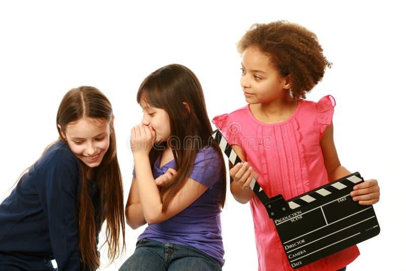 不同的小组女孩演员 免版税库存图片