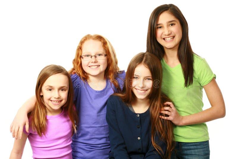 不同的小组女孩 图库摄影