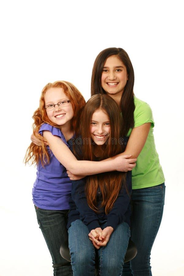 不同的小组女孩 免版税库存照片