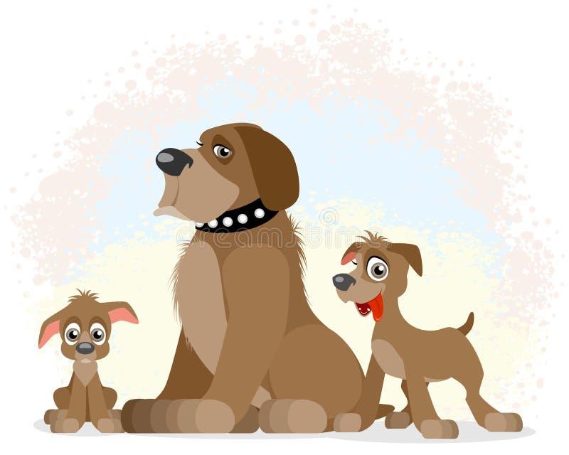 不同的年龄狗  皇族释放例证