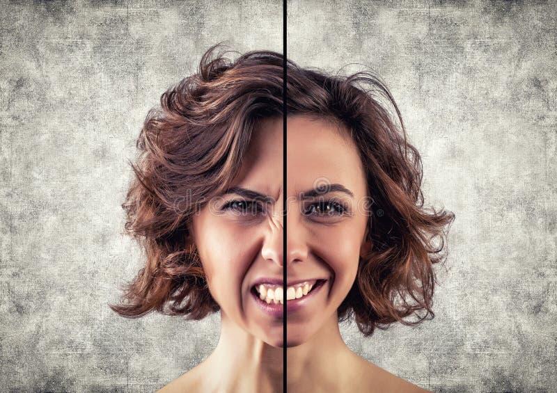 不同的情感 免版税库存照片