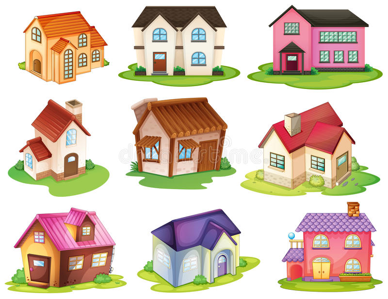 不同的房子 库存例证