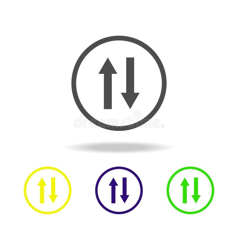 不同的方向多色象的标志 网象的元素 标志和标志象网站的,网络设计,流动应用程序o 库存例证