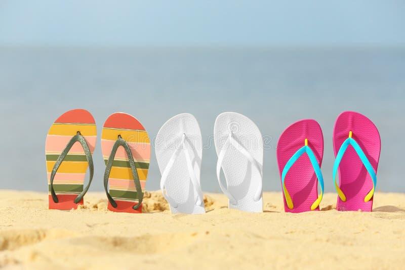 不同的明亮的触发器 海滩辅助部件 免版税库存图片