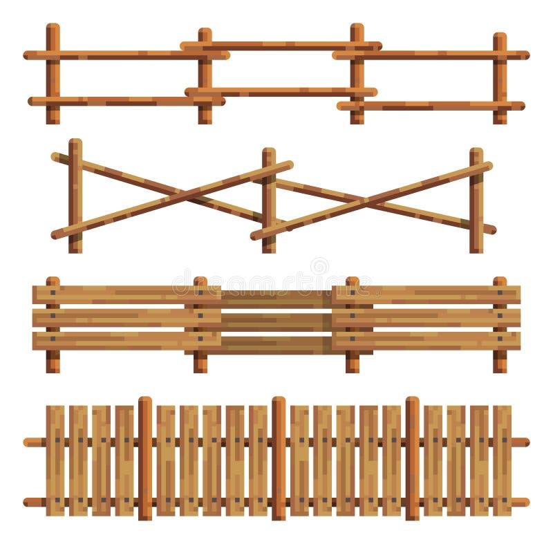 不同的木篱芭 也corel凹道例证向量 向量例证