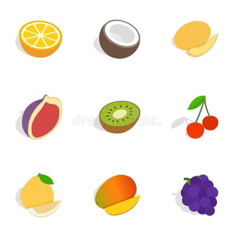 不同的果子,莓果象等量3d样式 皇族释放例证