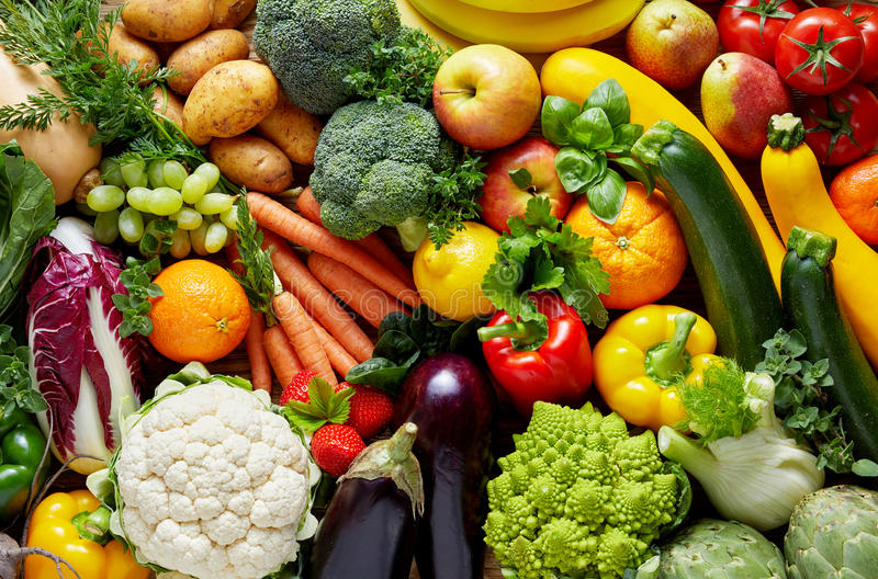 不同的果菜类 库存图片