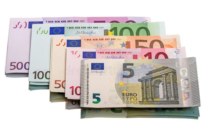 不同的欧洲钞票 免版税图库摄影