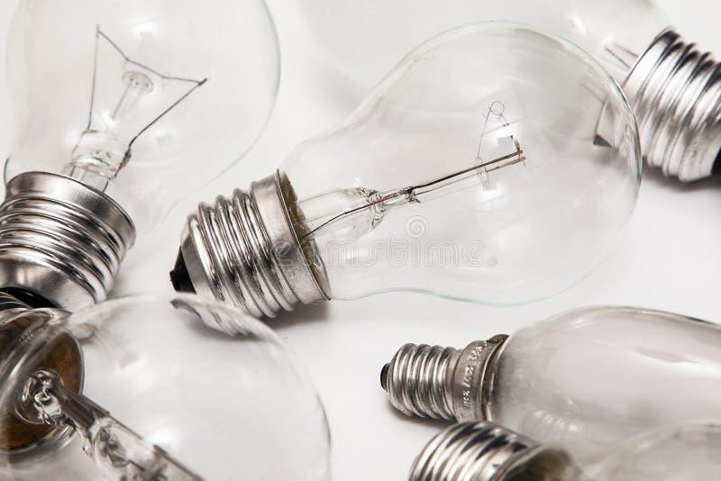 不同的电灯泡 免版税库存图片