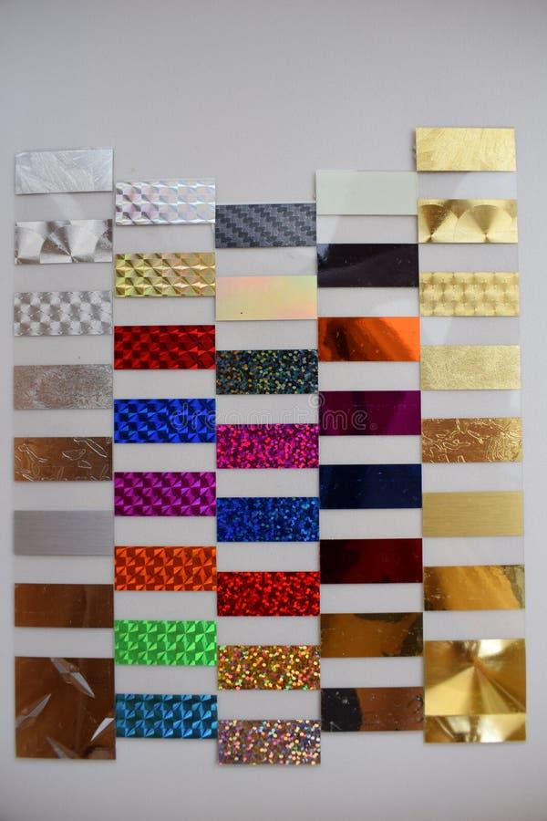 不同的种类五颜六色的片断塑料 免版税库存照片