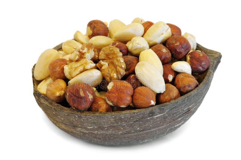 不同的种类坚果  库存图片