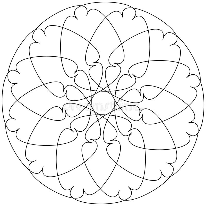 不同的线性几何对象 任意相交的线fo 库存例证