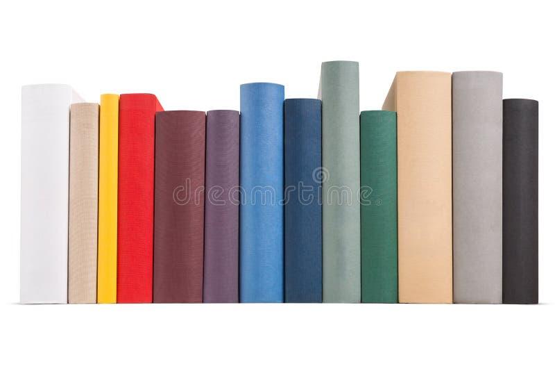 不同的色的书 库存图片