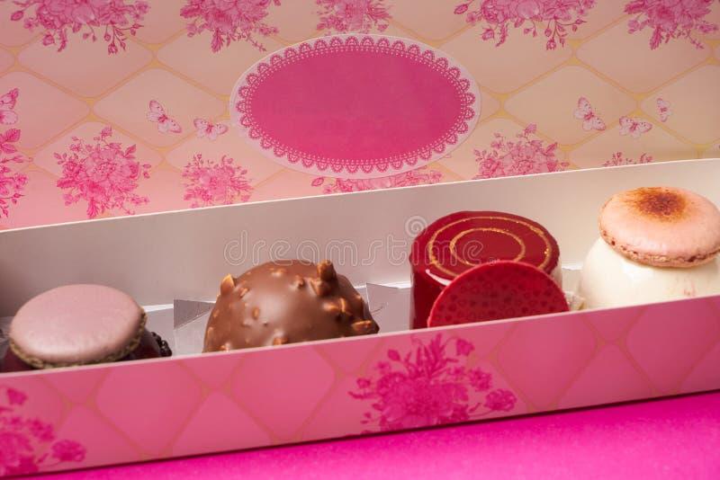 不同的蛋糕的分类 免版税库存照片