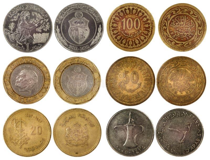 不同的阿拉伯硬币 图库摄影