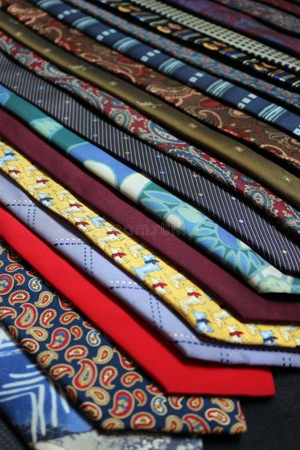不同的领带 库存照片