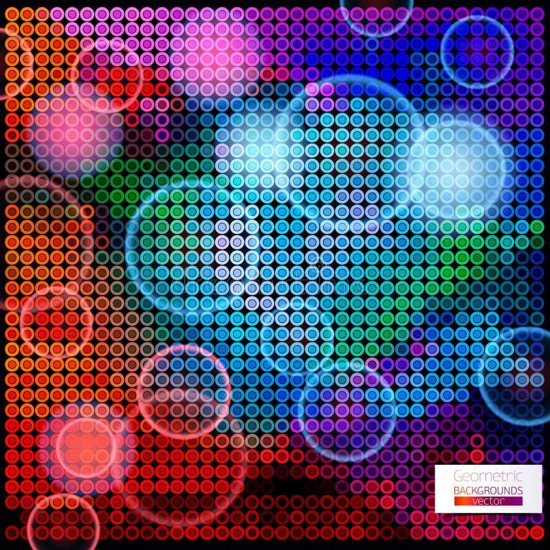 不同的颜色圈子的抽象构成  皇族释放例证