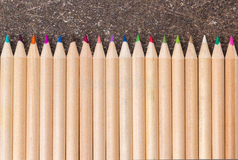 不同的颜色木铅笔  库存照片