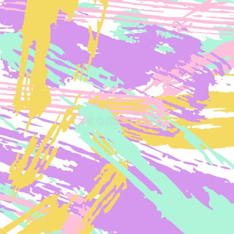 不同的颜色油漆冲程 向量例证