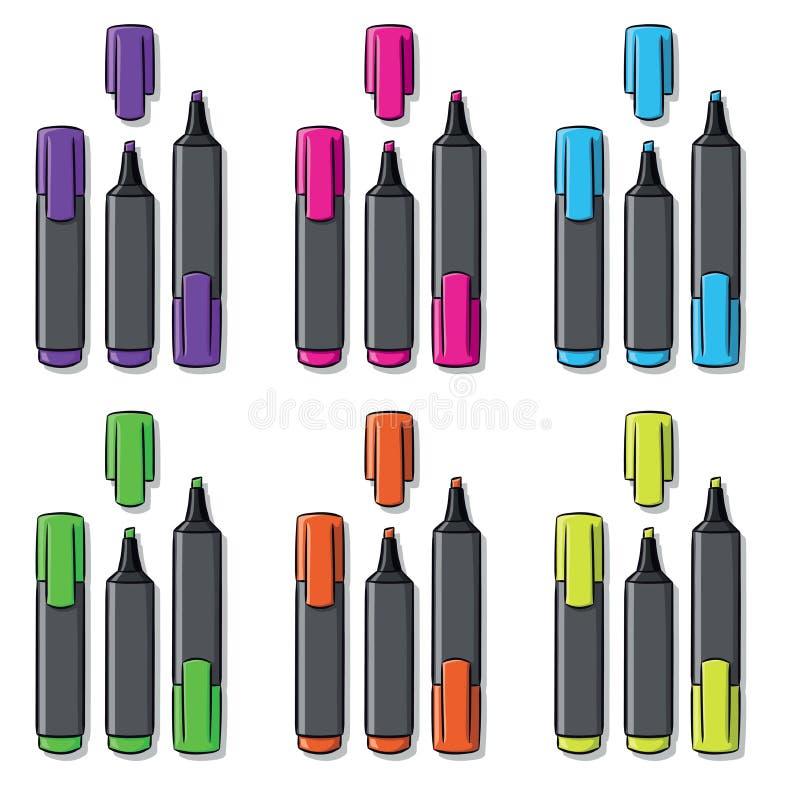 不同的颜色轮廓色_  皇族释放例证
