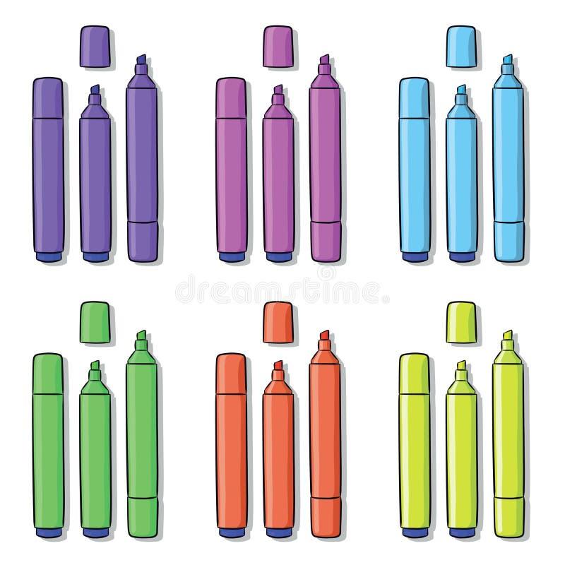 不同的颜色轮廓色_  库存例证
