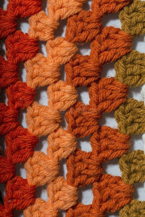 不同的颜色钩针编织织品  库存照片