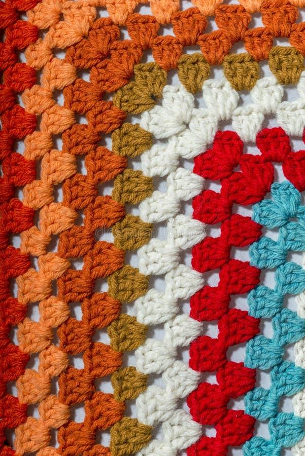 不同的颜色钩针编织织品  图库摄影